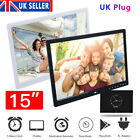 15 inch Digital Picture Frame MP3 MP4 Player Smart Electronic Photo Album+Remote