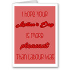 """Generic Typographic """"Pleasant"""" Mother s Day Card / Gift / Next Day"""