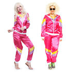 80s Scouser Shell Suit Fancy Dress Mens Ladies Tracksuit Costume Afro Wigs