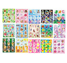 Childrens Party Bag Stickers Sticker Sheets Kids Fillers 18 Designs 3- 60 Packs