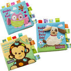 Cute Animals Soft Cloth Baby Books Rustle Sound Educational Stroller Toys