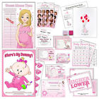 PINK BABY SHOWER GAMES- Girl, Active, Bingo, Dummy, Tummy, Winner, Labour, Stars