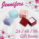 Jewellery Gift Boxes (24/48/96) Ring Earring Jewellery Box NEW Joblot Wholesale