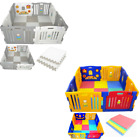 USED Baby Playpen Plastic Play Pen for Toddlers With Optional Playmats