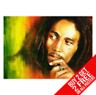 BOB MARLEY RASTA JAMAICAN POSTER ART PRINT A4 A3 - BUY 2 GET ANY 2 FREE