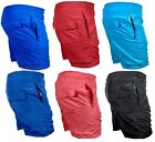 Mens Swimming Shorts Beach Swim Palm Multi Zip Pockets Holiday Mesh Trunks Pants