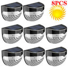6 LED OUTDOOR WATERPROOF SOLAR POWERED WIRELESS WALL FENCE LIGHTS GARDEN PATIO