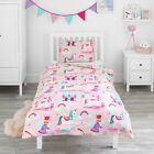 Duvet Cover & Pillowcase Set Magic Unicorn Fairy Princess Girls Kids Bed Bedding