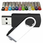 32GB 16 8GB 4GB 2GB 1 GB USB Swivel Flash Memory Stick Pen Drive 128mb 256 512mb