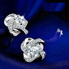 UK Boxed Sterling Silver Earrings Made with Swarovski Elements Crystal