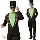Mens Day Of The Dead Gentleman Costume Mexican Halloween Fancy Dress Outfit