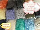 Latch Hook Yarn 4 ply 400 strands hand precut for rug making, crafts. 50 colors!