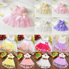 Baby Girl Tutu Tulle Dress Princess Party Lace Flower Dresses Wedding Bridesmaid