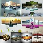 5 Panels Unframed Modern Flower Art Large Wall Hanging Picture Canvas Home Decor
