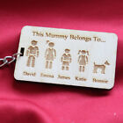 Personalised Mother s & Father s Day Family Portrait Mummy Daddy Keyring Gift K3