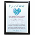 Personalised Godfather Gifts Heart Poem Christmas Birthday Christening Name