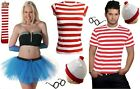 New Men s Women s outfit Wheres Wally Fancy Dress Kit Set Book Week Day costume