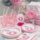 PINK UMBRELLAPHANTS Baby Shower Party Supplies,Games,Tableware,Decorations,Girls