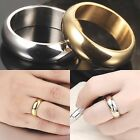 7mm Titanium Steel Mens Womens Wedding Band -  Gold or Silver -  Ring Sizes K-Z1