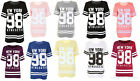 JUSTYOUROUTFIT Ladies New York 98 Baseball Varsity Top Oversized T-shirt UK 8-26