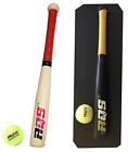 """Wooden Baseball Bat Rounder With Tennis Ball Sports Outdoor Kids Top Quality 17"""""""