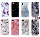 Granite Marble Soft Silicone Phone Case Skin Cover For iPhone 5 6 7 8 Plus XS XR