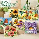 Flower Plant Cushion Cover Making kits Latch Hook Rug For Beginners Embroidery