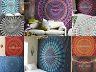 Large Indian Cotton Tapestry Wall Hanging Peacock Mandala Bedspread Throw Cover