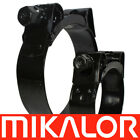 Mikalor W2 Hose Clamps Black Stainless Steel Supra Clips Heavy Duty | Exhaust