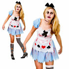 Zombie Alice In Wonderland Costume Story Book Ladies Fancy Dress