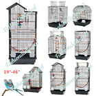 """37"""" Large Metal Bird Cage Parrot Cage Budgie Lovebird Canary Finch Cockatiel"""