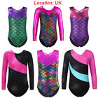 UK Warehouse Girls Sparkle Gymnastics Leotards Mermaid Ballet Dance Costume3-12Y