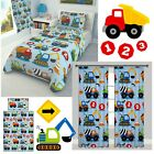 CONSTRUCTION TRUCKS Boys Nursery Bedding Set  100% COTTON