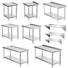 60-180cm Kitchen Catering Table Commercial Stainless Steel Work Bench/Wall Shelf