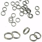 Thick Strong STAINLESS STEEL 10mm Keyring  Split Rings  Key Chain Links Rhodium