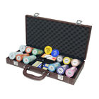 PU Leather Poker Chips Dices Cards Tokens Case for 200 / 300 / 500 Chip Set