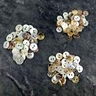 Mother of Pearl buttons Ivory / Neutral 8/9/10/11/13mm Craft Scrapbook B57 x 50