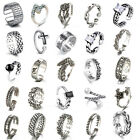 Solid 925 Sterling Silver Toe Ring Adjustable Stacking Midi Knuckle Top Finger