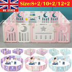 Baby Playpen 10/12/14 Panels Kids Activity Center Safety Play Yard Pen Foldable