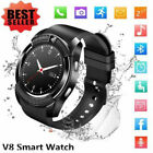 V8 Smart Watch&SIM Phone&Bluetooth Camera&GPS For Samsung iphone iOS Android UK