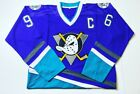 MIGHTY DUCKS NHL RETRO ICE HOCKEY JERSEY SHIRT - UK SUPPLIER 48HR DELIVERY