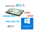 "Laptop Hard Drive Disk 2.5"" SATA Internal HDD Installed Windows 10 home"