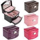 Large Jewellery Box Armoire Dressing Chest with Clasps Bracelet Ring Organi +Key