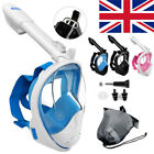 2018 Version Full Face Diving Snorkel Mask Swimming Scuba 180° Free Breathing