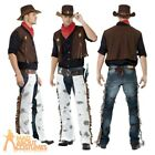 Adult Cowboy Costume Fancy Dress Outfit Mens Male Western New Wild West