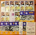 Leeds Rugby League Programmes 1984 - 2012