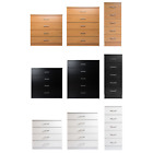 Chest of Drawers Bedroom Furniture.Clothes Organiser. White, Black, Beech Tall