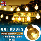 30 LED Solar Powered Garden Party Fairy String Crystal Ball Lights Outdoor