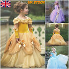 Princess Sofia Rapunzel Dress Fancy Costume Kids Cosplay Tulle Prom Gowns UK