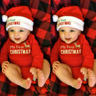 MY First Christmas Baby Boy Girl Unisex Romper Jumpsuit Babygrows Clothes Outfit